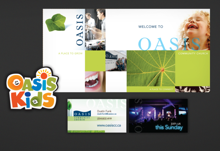 Oasis church print design