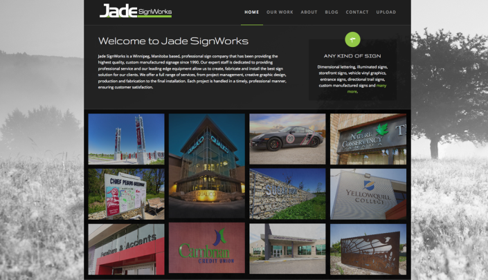 Jade SignWorks website