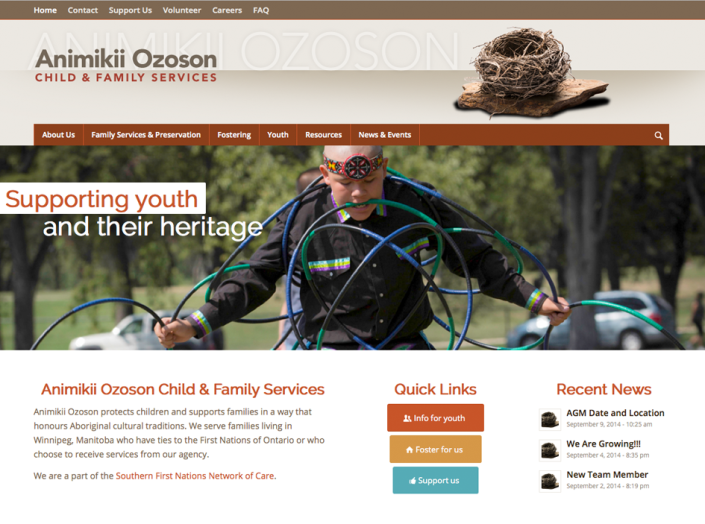 Animikii Ozoson website design