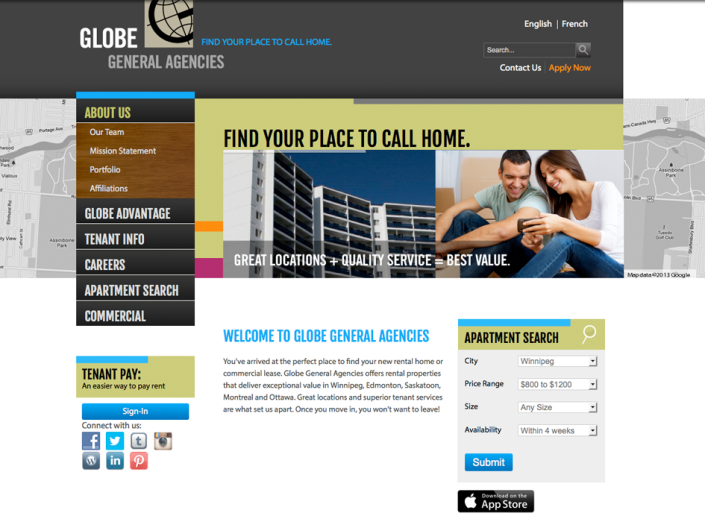 Globe General Agencies web